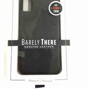 🍉NEW Barely There Leather Black iPhone Xs/ X case
